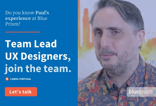 INSCALE - Instagram - Blue Prism - Join our team - Team Lead, UX Designer